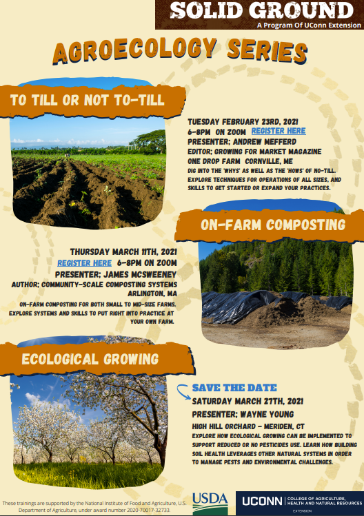 flyer for Agroecology trainings